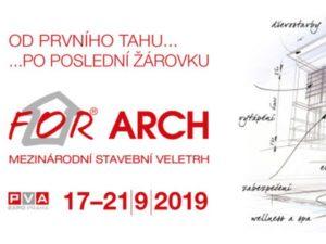 Pozvánka na veletrh for arch 2019