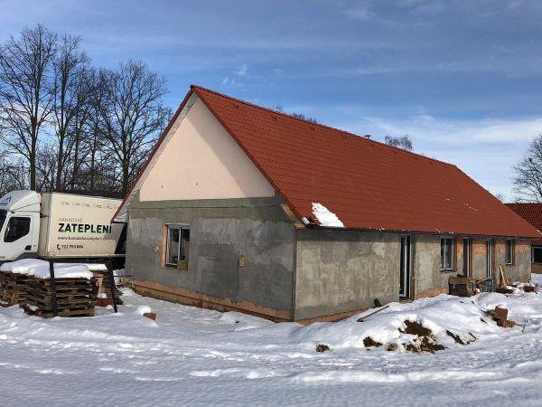 Zateplení stropu v obci Křešín
