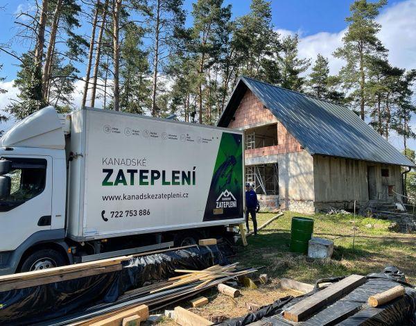 Zateplení chaty v Trnavě u Třebíče